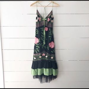 Tracy Reese Floral Embroidered Silk Dress 2